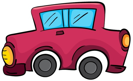Illustration of a simple car Vector