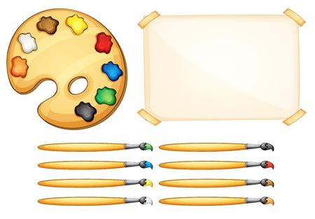 kid's: Illustration of a painter