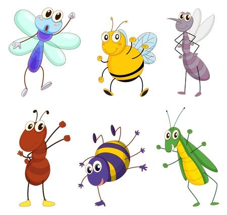 Ilustración de un conjunto de animales divertidos