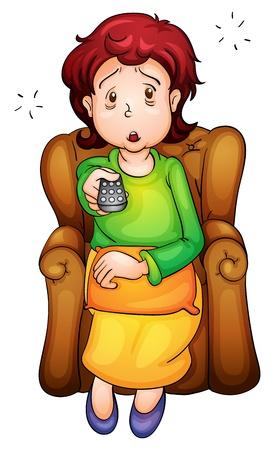 tv remote: Иллюстрация скучающие лица