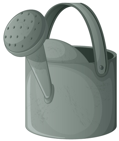 water can: Illlustration of a watering can
