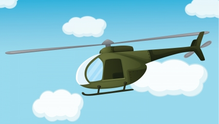 Illlustration of an army helicopter Vector
