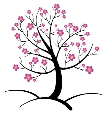 Illustration of an abstract tree Vector