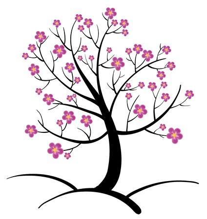 arboles blanco y negro: Ilustraci�n de un �rbol abstracto Vectores