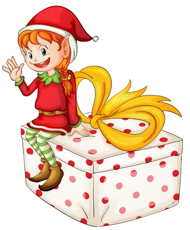 Illustration of a Christmas elf Stock Vector - 13800584
