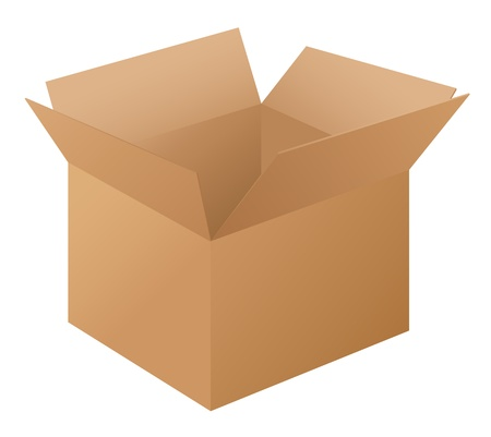 Illustration of a box on white Vector