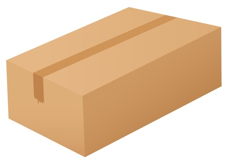 Illustration of a box on white Stock Vector - 13800469