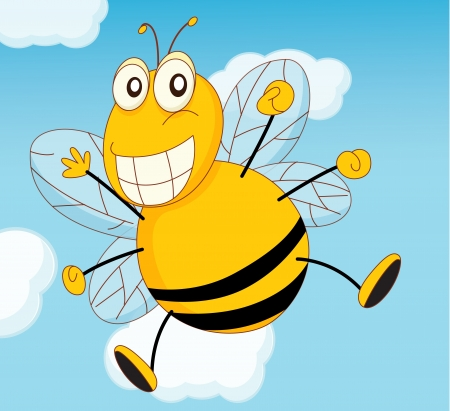 Illustration of a bee flying Vector