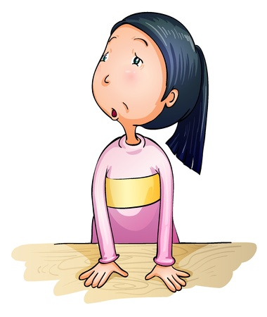Illustration of worried and confused girl Vector
