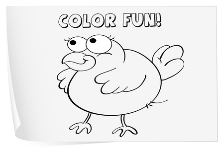 coloring sheets: Illustration of a colouring worksheet (bird)