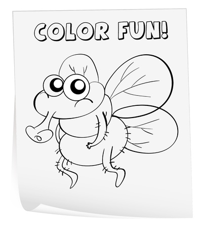 coloring sheets: Illustration of a colouring worksheet (germ)