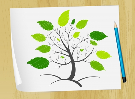 Illustration of an abstract tree concept