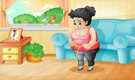 Illustration of an overweight woman Vector