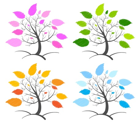 Illustration of an abstract tree concept Vector