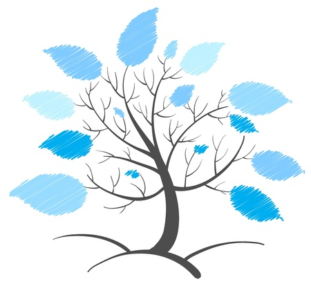 cartoon trees: Illustration of an abstract tree concept