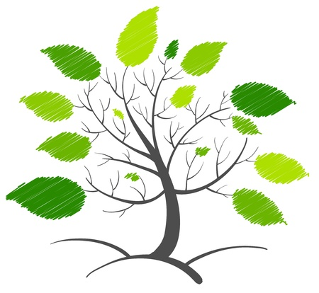 arbol de la vida: Ilustración de un concepto de árbol abstracta