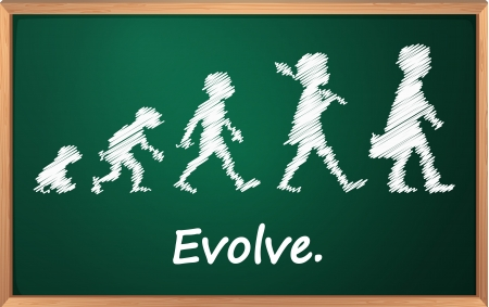 Evolution on a detailed blackboard Vector