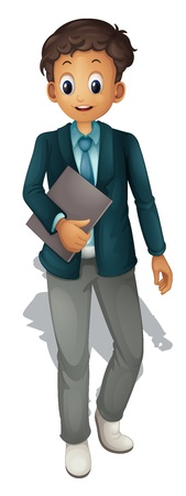 cartoon man: Business man on a white background Illustration