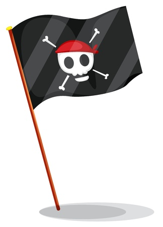 Illustration of a pirate flag Stock Vector - 13858117