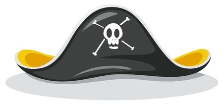Illustration eines Piratenhut