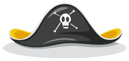 pirate hat: Illustration of a pirate hat Illustration