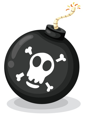 Illustration of a bomb on white Vector