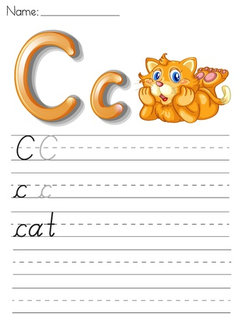 phonetic: Alphabet worksheet on white paper