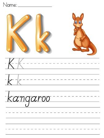 sounds: Alphabet worksheet on white paper