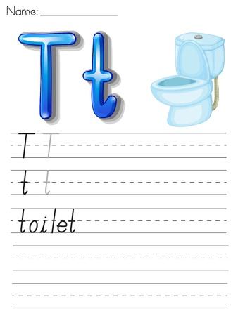 esl: Alphabet worksheet on white paper