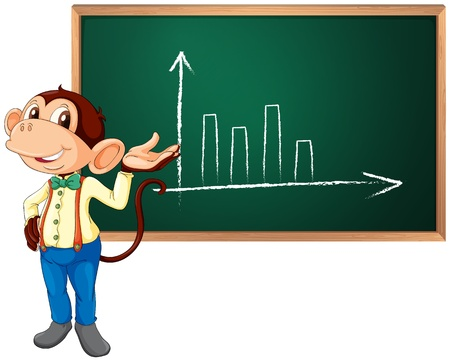 meet up: Business monkey presenting information