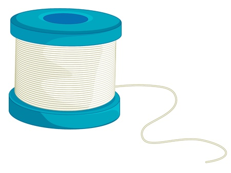 Illustration of fishing line on a coil Stock Photo