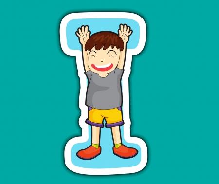 alphabet kids: Illustrated alphabet letter series with kids