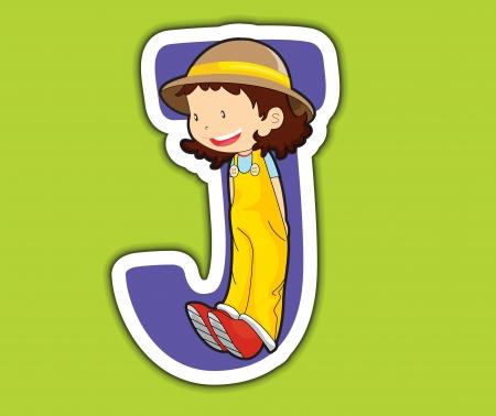 アルファベットの手紙シリーズの子供で示されています