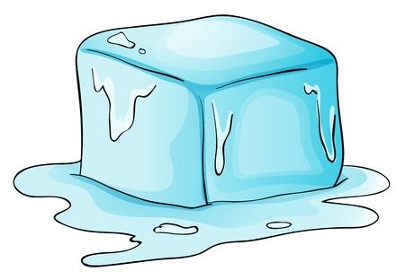 Ilustración de un bloque de hielo Ilustración de vector