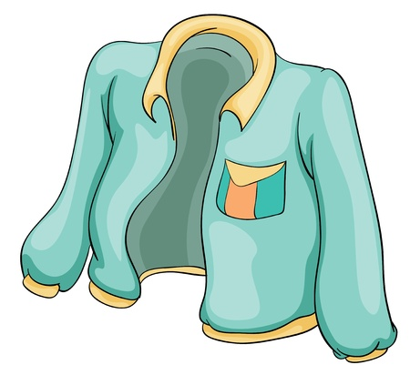 white coat: Illustration of an isolated jacket Illustration