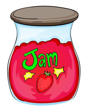 rasberry: Illustration of a jam jar