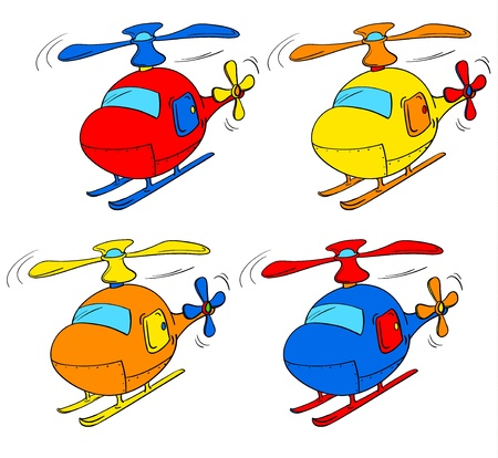4 door: Illustration of a set of choppers