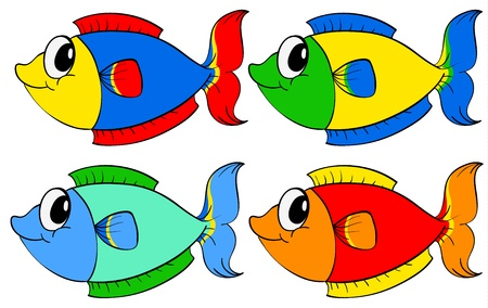 Illustration of a set of fish Vector