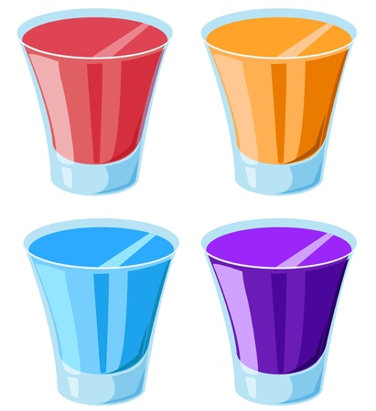 shot glass: Illustration of 4 shot glasses