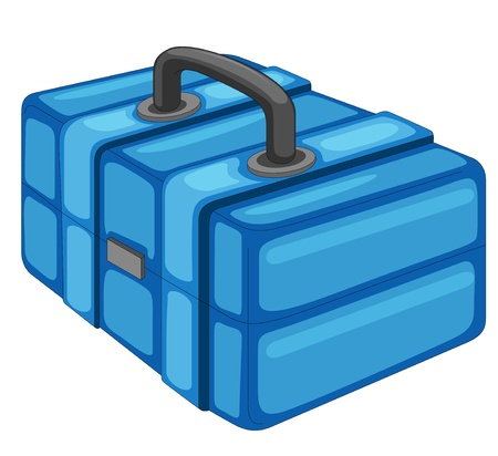 Illustration of a fishing box Vector