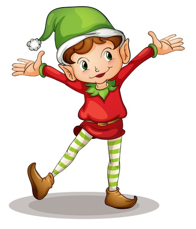 elves: Illustration of a christmas elf