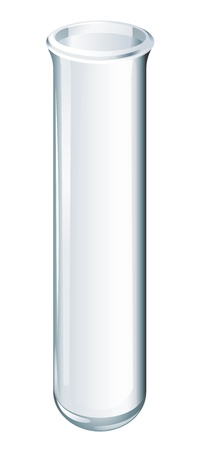 test tube: Illustration of scientific glassware - test tube
