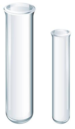 Illustratie van wetenschappelijke glaswerk - reageerbuizen
