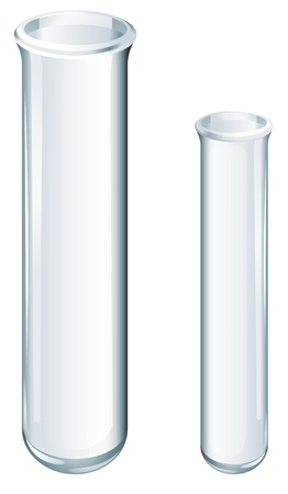 Illustration of scientific glassware - test tubes