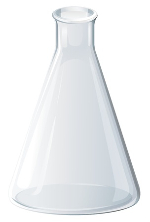 laboratory glass: Illustration of scientific glassware - flask