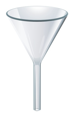 funnel: Illustration of scientific glassware  -funnel