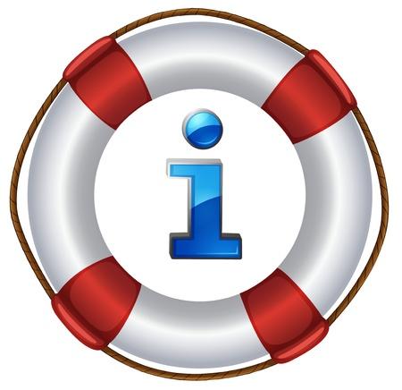 Illustration of an information symbol Stock Vector - 13930801
