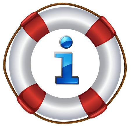 floatation: Illustration of an information symbol