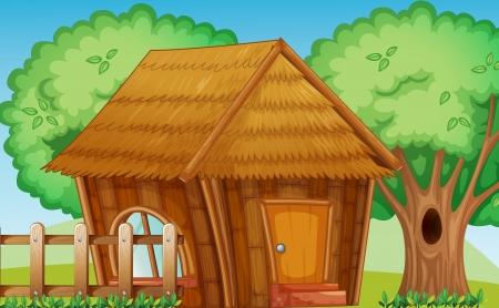 Illustration einer kleinen Hütte