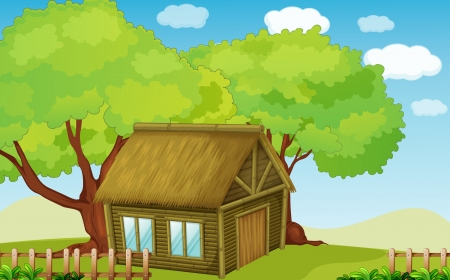 Illustration of a small hut